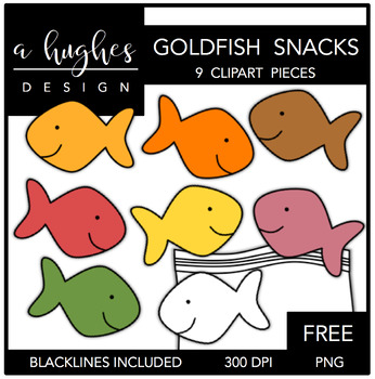 FREE Goldfish Snacks {Graphics for Commercial Use}