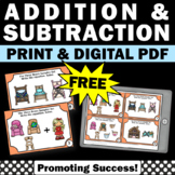 FREE Goldilocks and the Three Bears Math, Addition and Subtraction with Pictures
