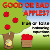 Apples FREE Sorting True and False Equations - Addition & Subtraction within 20