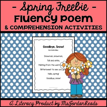 "FREE ""Goodbye, Snow!"" Spring Poem & Activities"