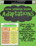 Adaptations Interactive Notebook for Google Classroom FREE