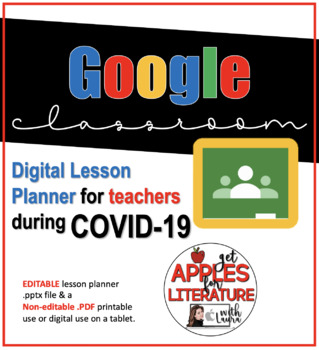 FREE Google Classroom Distance Learning E-Lesson Planner