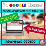 FREE Google Classroom Forms Nouns - Self Correcting - Dist