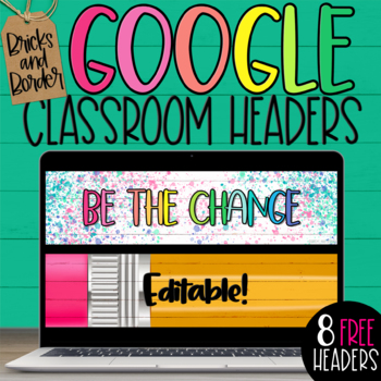 FREE Google Classroom Headers for Distance Learning Back to School