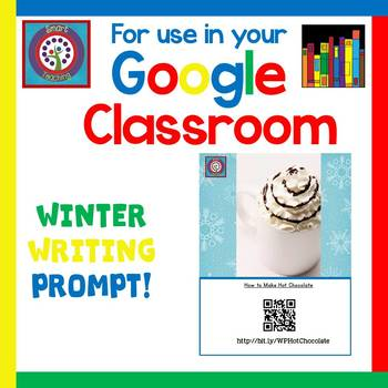 FREE Google Classroom - Winter Writing Prompt