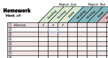 FREE Google Drive Homework Checklists Two-Template Color a
