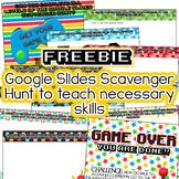 FREE Google Scavenger Hunt Google Slides tasks