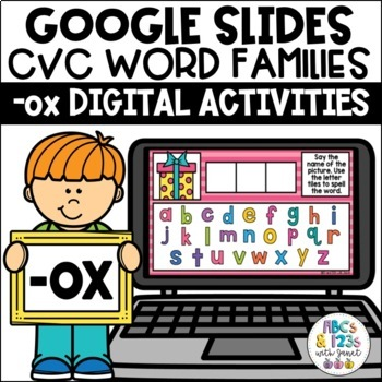 FREE Google Slides™ CVC Word Families (-ox) Digital Activities