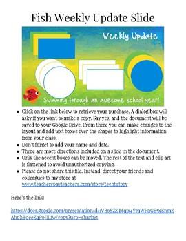 FREE Google Slides Weekly Letter