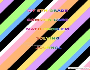 FREE Grade 5 Common Core Math Problem Solving Journal (Wor