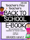 FREE Grades 1-2 Back to School Sampler 2015-2016