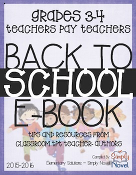 FREE Grades 3-4 ALL SUBJECTS Back to School E-Book 2015-2016