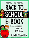 FREE Grades PreK and Kindergarten Back to School eBook 2015 - 2016