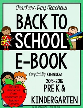 FREE Grades PreK and Kindergarten Back to School eBook 2015 - 2016