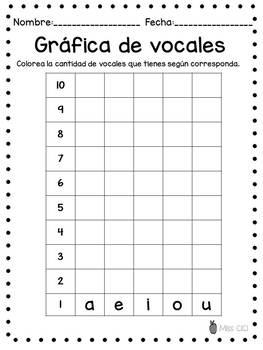 FREE Grafica de vocales