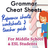 FREE Grammar Cheat Sheet & Practice Worksheets!