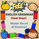 FREE Grammar Cheat Sheet and Grammar CHECKLIST!