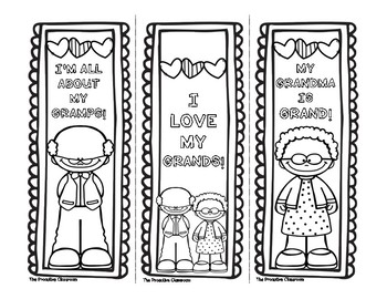 FREE Grandparents' Day Bookmarks!