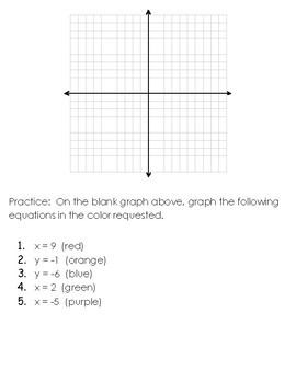 FREE Graphing Horizontal and Vertical Lines Worksheet