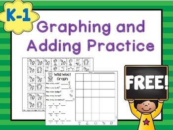 FREE Graphing and Addition Practice K-1