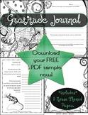 {PAEZ ART DESIGN} FREEBIES! Gratitude Coloring Journal Sample