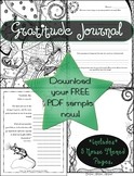FREE Gratitude Coloring Journal Sample pages- Mouse Themed