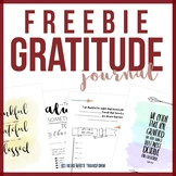 FREE Gratitude Journal For Middle School
