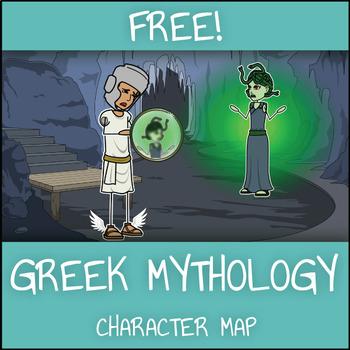 FREE Greek Mythology Character Map