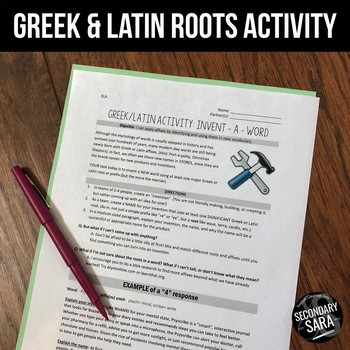Greek and Latin Roots FREE Activity: Invent-a-Word