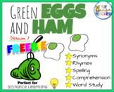 FREE Green Eggs & Ham - Version 1 Phonics Reading Comprehension Sight Words