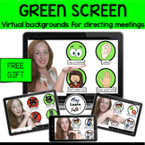 FREE Green Screen Virtual Backgrounds for Speech Therapy-Distance Learning