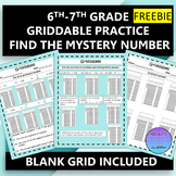 FREE Griddable Practice for 6-8th Grade Math STAAR Mystery