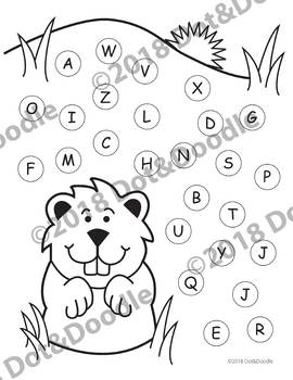 FREE Groundhog Day Dauber Worksheets ABCs (Upper & Lower case), #1-20, & Blank