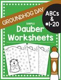 FREE Groundhog Day Dauber Worksheets ABCs (Upper & Lower c