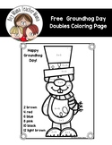 FREE Groundhog Day Doubles Coloring Sheet