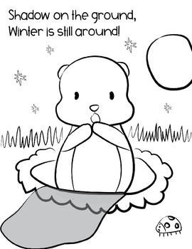 FREE Groundhog's Day Coloring Activity