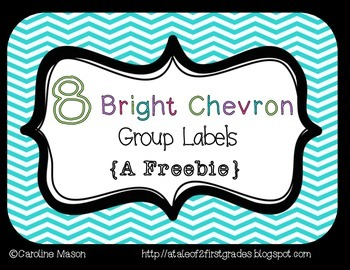 FREE Group Labels in Bright Chevron