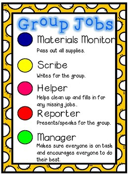 FREE Group Table Jobs Poster