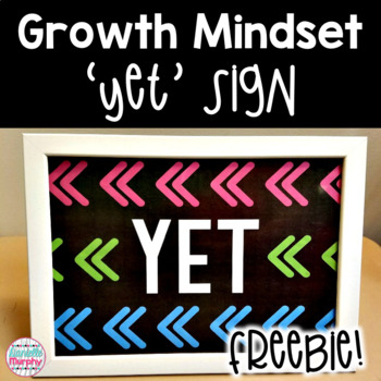 FREE Growth Mindset YET Sign