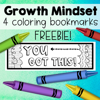 FREE!  Growth Mindset Coloring Bookmarks!  Positive Thinking Freebie