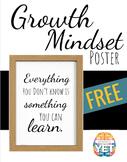 FREE - Growth Mindset Modern Farmhouse Posters - BelieveInYet