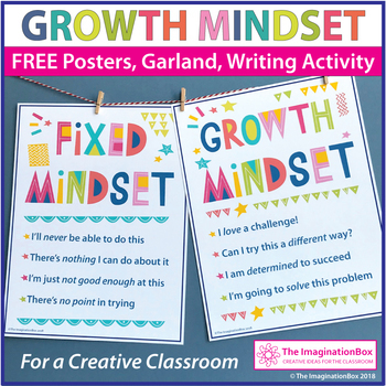 FREE Growth Mindset Posters and Writing Activity