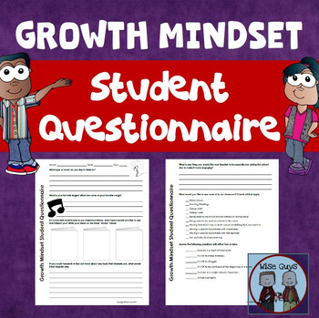 FREE Growth Mindset Student Engagement Questions