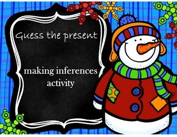 FREE Guess the present (A making inferences activity)