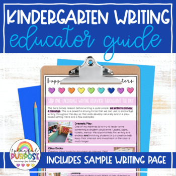 FREE Guide to Supporting Emergent Writers // Kindergarten Writing