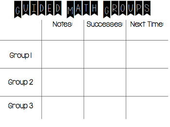 FREE Guided Math Group Notes (Editable)