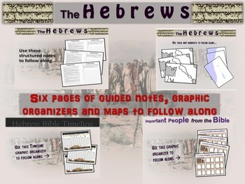 FREE Guided Notes, Timelines, Comics, Graphic Organizers & Maps for HEBREWS unit