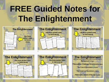 FREE Guided Notes for the Enlightenment (philosophers, French Revolution, & more