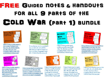 FREE Guided Notes on the Korean War PPT (part of Cold War Series)