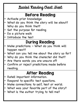 FREE Guided Reading Binder and Planning Guide